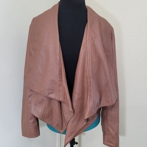 Doncaster collection sz 14 NEW Leather Jacket Tan
